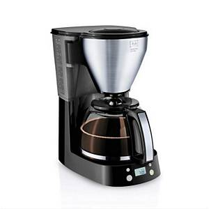 Melitta Easytop Filter Coffee Maker with Digital Timer in Black & Silver