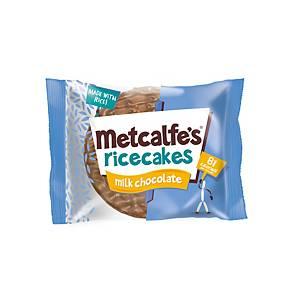 Metcalfe s Milk Chocolate Rice cakes - Pack of 16