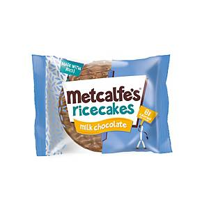 Metcalfe s Milk Chocolate Rice cakes - Pack of 16