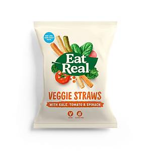Eat Real Veggie And Kale Straws - Pack of 12