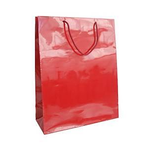 Dárková papírová taška HANKA, 32 x13 x 42 cm, červená