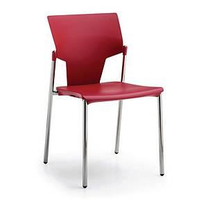 Konferencestol Fumac Aktiva, højde 46/78 cm, rød