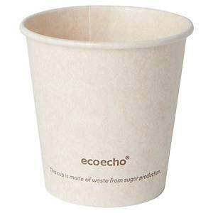 Gobelet en bagasse et PLA Duni Sweet ecoecho - 12 cl - paquet de 50