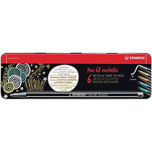 Fixky Stabilo Pen 68 Metallic, mix farieb, 6 ks/balenie