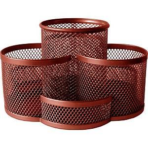 Drôtený stolový organizér SaKOTA, červený