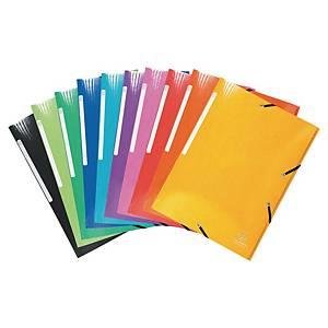 Paquet de 10 chemises Idérama 3 rabats à élastiques 7/10ème pelliculées 600g