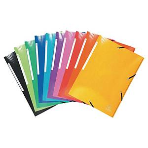 Exacompta Iderama A4 3 Flap Folders, Assorted Colours - Pack 10