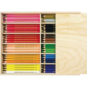 Färgpennor Faber-Castell, jumbo, utvalda färger, förp. med 96st.