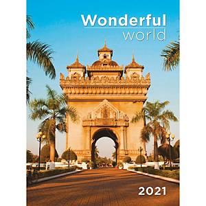 Wonderful World T093 falinaptár, 31 x 42 cm