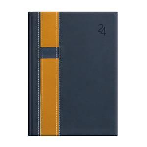Vario napi határidőnapló A5 - kék/sárga, 15 x 21 cm, 352 oldal