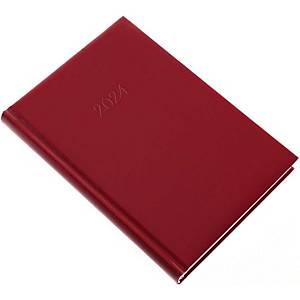 Standard napi határidőnapló A5 - bordó, 14,5 x 20,5 cm, 352 oldal