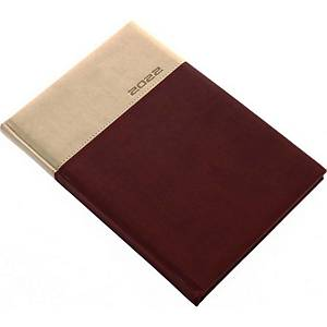 LUX WEEKLY DIARY B5 16.5X24CM BROWN