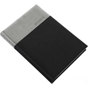 Lux napi határidőnapló A5 - grafit, 14,5 x 20,5 cm, 352 oldal