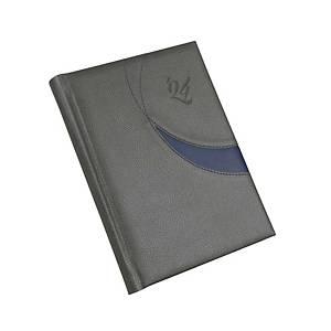 Premium M napi határidőnapló A5 - szürke, 14,5 x 20,5 cm, 352 oldal