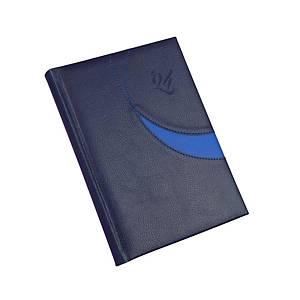 Premium M napi határidőnapló A5 - kék, 14,5 x 20,5 cm, 352 oldal