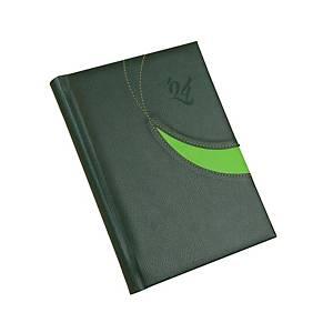 Premium M napi határidőnapló A5 - zöld, 14,5 x 20,5 cm, 352 oldal