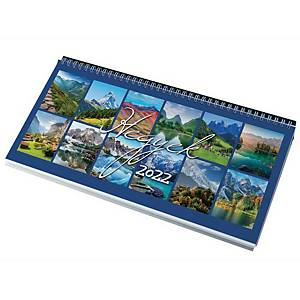 DESK CALENDAR 7951 MOUNTAINS 32X15.5 BLK
