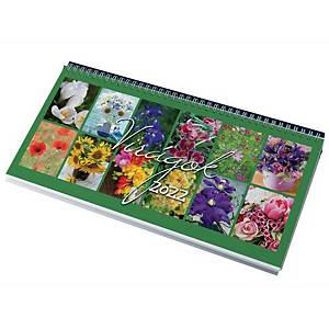 DESK CALENDAR 7981 FLOWERS 32X15.5 BLACK