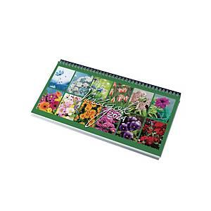 Virágok - asztali naptár, 32 x 15,5 cm, fekete tartó
