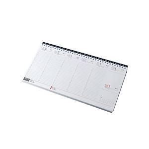 Fekvő asztali naptár 7931, fehér papír, 32 x 15,5 cm, fekete tartó