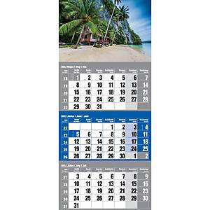 3MONTH WALL CALENDAR ISLAND 30X48