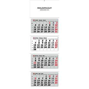 4MONTH WALL CALENDAR 3BLOCKS 33X100