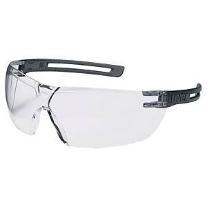 Safety glasses uvex X-Fit 9199, filter type 2C, grey/transparent, clear lens