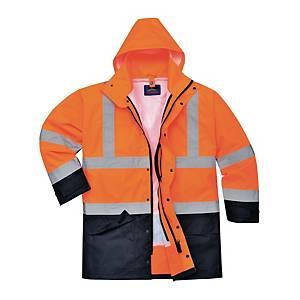 Parka alta visibilità 5 in 1 Portwest S766 arancione/navy tg 2XL