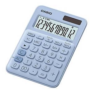CASIO MS-20UC 迷你桌面計算機 12位 淺藍色