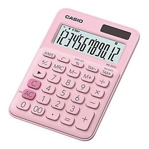 CASIO MS-20UC 迷你桌面計算機 12位 粉紅色