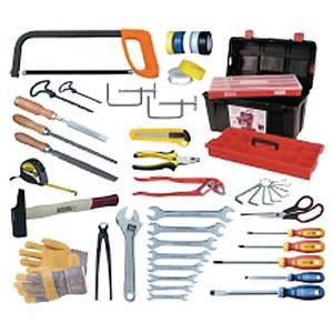 Caisse à outils - 46 pièces - coffret avec étage et coffret de rangement