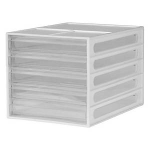 Shuter DD-105P 5-Drawer Desktop File Cabinet White