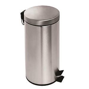 不銹鋼腳踏垃圾桶 30L