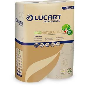 Toilettenpapier Lucart Econatural, 3-lagig, Packung à 5x6 Rollen