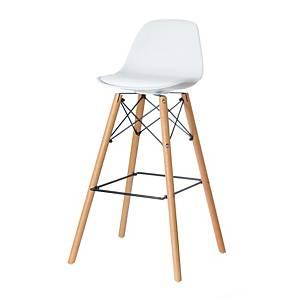 Barové stoličky Paperflow Steelwood, biele, 2 kusy