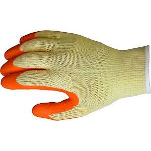 Ultimate E-Grip Gloves Yellow & Orange Size 10