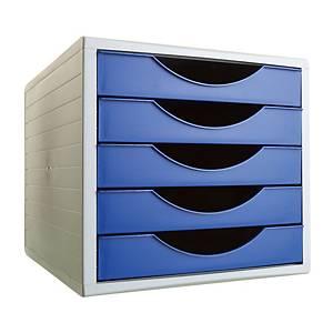 Módulo 5 gavetas Archivo 2000 - azul