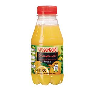 Orangensaft Wesergold, 0,33l, PET, 6 Stück