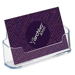 Expositor para cartões de visita Deflecto - 1 compartimento - transparente