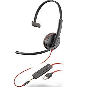 Headset Plantronics Blackwire C3215, mono, USB-A