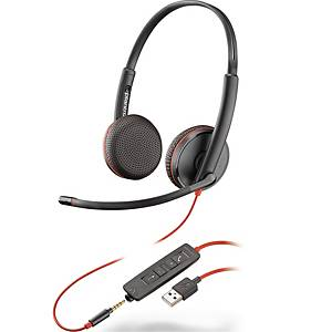 Headset Plantronics Blackwire C3225, stereo, USB-A, med kabel