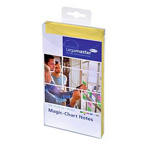 Legamaster Magic Chart Notes, geel, 10 x 20 cm, per 100