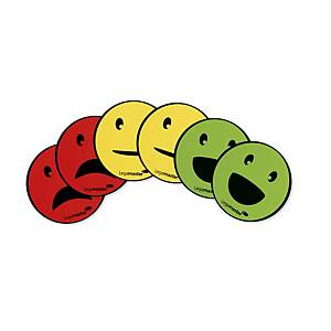 Legamaster Magnets Emoticon, assorted 6 pieces (2 Smile, 2 Sad, 2 Neutral)