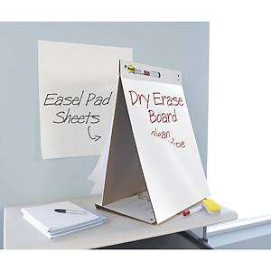 Post-it® Super Sticky Table Top Chart + tableau blanc autocollant, 584 x 508 mm