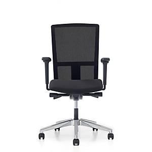 Prosedia Se7en Ergo bureaustoel met universele wielen, stof/mesh, zwart