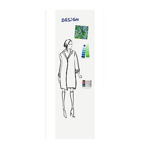 Legamaster Wall-Up whiteboard paneel 60 x 200 cm portrait + montage