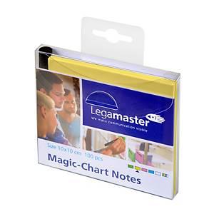 Legamaster Magic Chart Notes, geel, 10 x 10 cm, per 100