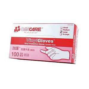 Cancare Vinyl Glove Powder-Free - Box of 100