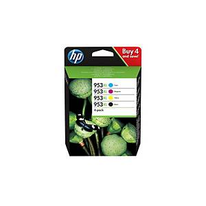 Pack de 4 cartuchos de tinta HP 953XL - 3HZ52AE - 4 colores