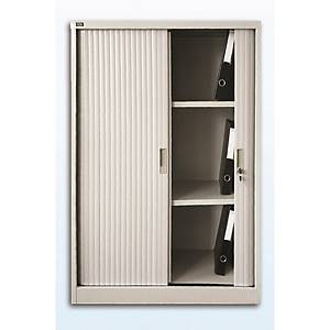 Roller Shutter Double Door Cabinet 3 Shelves